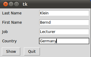 Name and Job: Bernd Klein, Lecturer, Germany