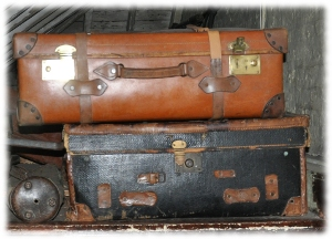Packed Suitcases, from Wikipedia, Public Domain, Sherlock_Holmes_Museum
